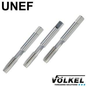 Völkel Handtappenset 3dlg, conisch, ISO 529, HSS-G, UNEF 1/4 x 32