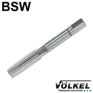 Völkel Handtap voorsnijder, ≈ DIN 352, HSS-G, linkse draad BSW 1/4 x 20