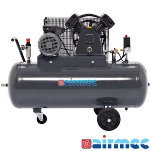 Airmec Zuigercompressor, 400L/min, 100L tank, 230V