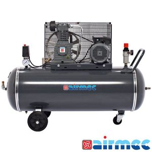 Airmec Zuigercompressor, 400L/min, 150L tank, 230V