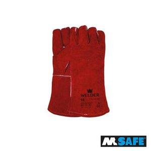 M-Safe Lashandschoen splitleder met kevlar garen