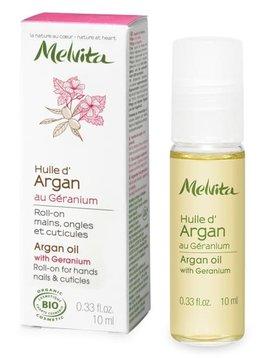 Melvita Roll-on Arganöl mit Geranie - für Hände, Nägel und Nagelhaut