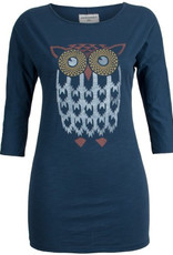 armedangels armedangels, Amy Indian Owl, washed blue, S