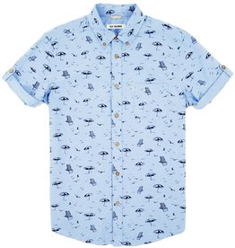 Ben Sherman Ben Sherman, SS, beach print, washed blue, M