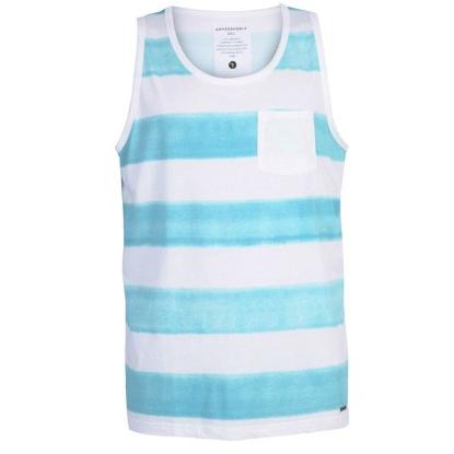 armedangels Armedangels, Casper Aqua Stripes Tank, Aqua blue, S