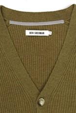 Ben Sherman Ben Sherman, Chunky Knit Cardigan, Mustard, S