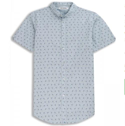 Ben Sherman Ben Sherman, BWS Shirt, Pearl Blue SS, L