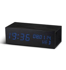Gingko, LED Alarm Clock, Musik, Black