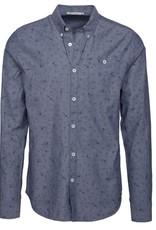 armedangels Armedangels, Benedict Shirt, Flower, washed blue, XL