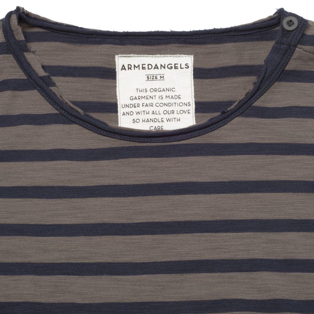 armedangels armedangels, Lenny Stripes, mud brown, S