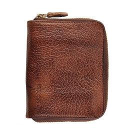 Nixon Nixon, Bayside Bi-Fold Zip Wallet, brown