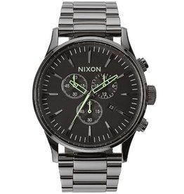 Nixon NIXON, Sentry Chrono, polished gunmetal / lum