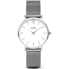 Cluse Cluse, Minuit Mesh, silver/white