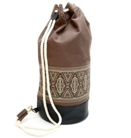 Alessandro Magnani Alessandro Magnani, Sailorbag, IKAT, brown nature/black