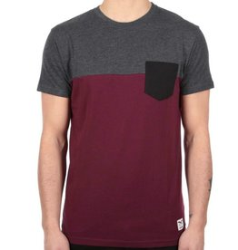 Iriedaily Iriedaily, Block Pocket Tee, anthra red, M