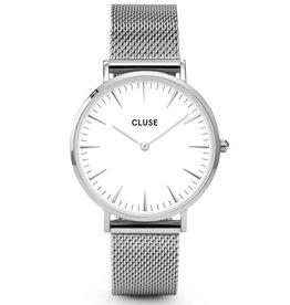 Cluse Cluse, La Bohème Mesh, silver/white