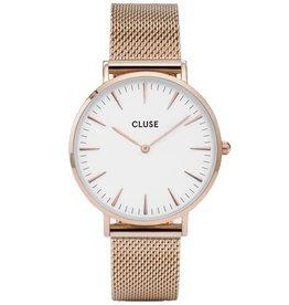 Cluse Cluse, La Bohème Mesh, rose gold/ white