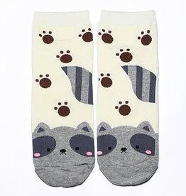 Cutie Socks Cutie Socks, Zoo Waschbär, grau, 36-40