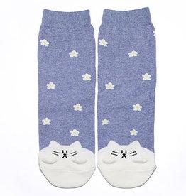Cutie Socks Cutie Socks, Frühling Katze, lila, 36-40