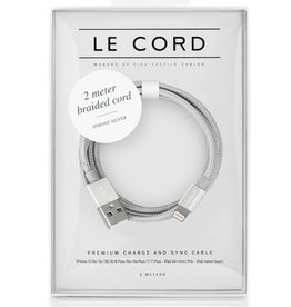 Le Cord LeCord, Solid 2 Meter, silber