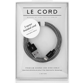 Le Cord LeCord, Solid 2 Meter Eero, black / white