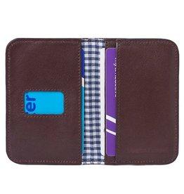 Lost & Found Accessories Lost & Found, Kreditkarten Etui, chocolate