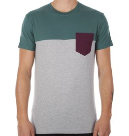 Iriedaily Irie Daily, Block Pocket Tee, Dark Teal, XL