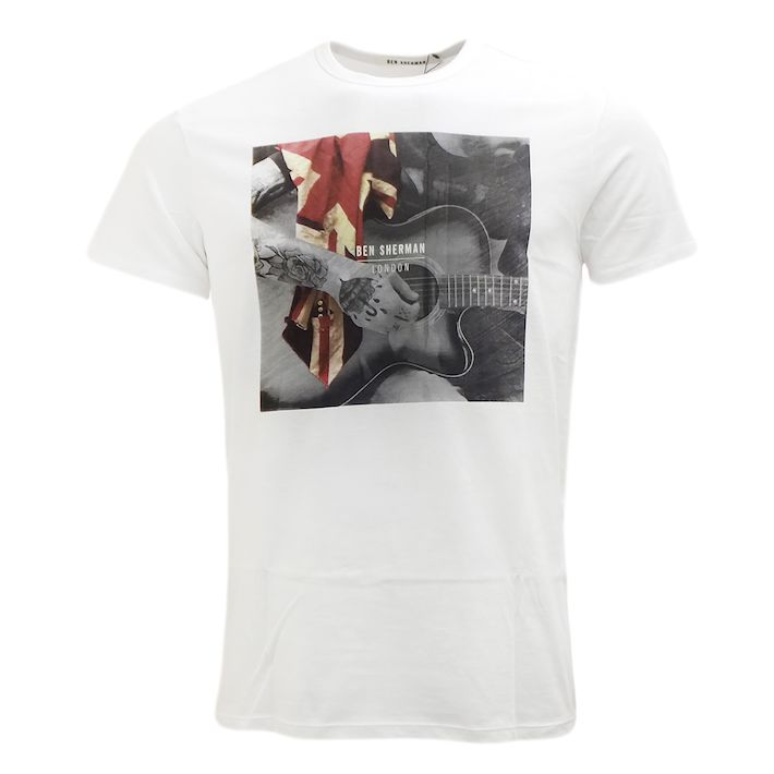Ben Sherman Ben Sherman, Guitar Union Jack, bright white, XL