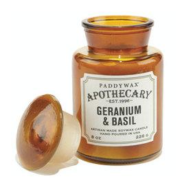Paddywax Paddywax, Apothecary, Geranium & Basil