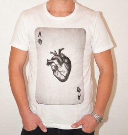 Longfieldstreet, Heartcard T-Shirt, white, M