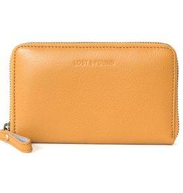 Lost & Found Accessories Lost & Found, Mittleres Reissverschluss Portemonnaie, mustard