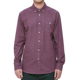 Obey Obey, Keble II Woven Shirt, eggplant, L