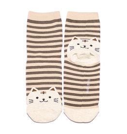 Cutie Socks Cutie Socks, Cat on the Toe, beige, Grösse 36-40
