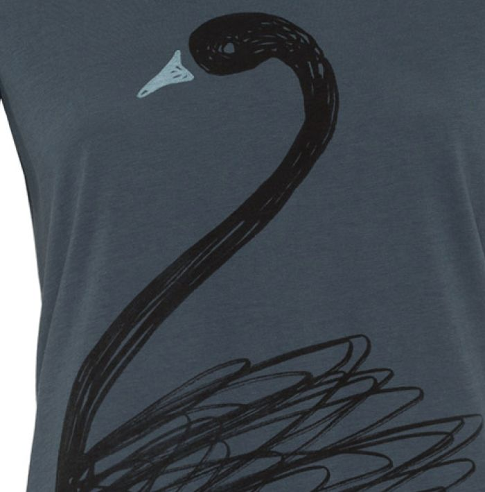 armedangels Armedangels, Mari Scribble Swan, petrol, S