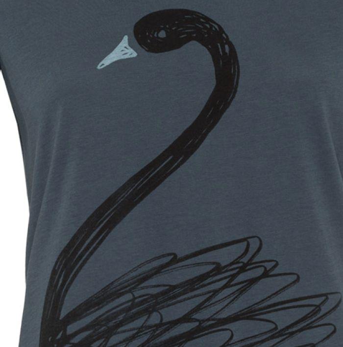armedangels Armedangels, Mari Scribble Swan, petrol, L