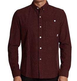 SLVDR SLVDR, Variance Shirt, speckled burgundy, M