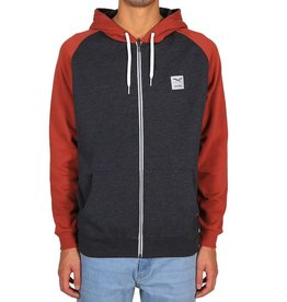 Iriedaily Iriedaily, De College Zip Hood, Brick, XL
