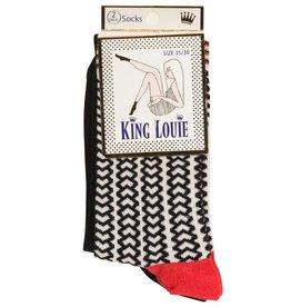 King Louie King Louie, 2-Pack Corazon, black, 39-42