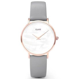 Cluse Cluse, Minuit la Perle, rose gold white pearl/stone grey