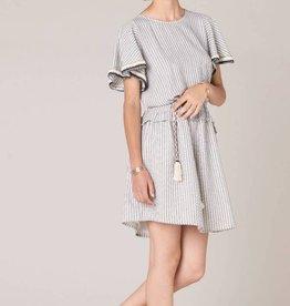 Sessun Sessun, Flying Bird Kleid, whiblack, L