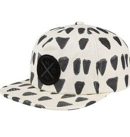 Nixon Nixon, Beachside Snap Back Hat, cream/black