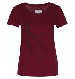 armedangels Armedangels, Mari Twinkle Deer, cranberry red, M