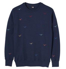 Cleptomanicx Cleptomanicx, Crewneck Seagull, Dark Navy, XL