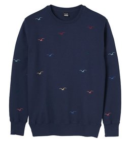 Cleptomanicx Cleptomanicx, Crewneck Seagull, Dark Navy, L