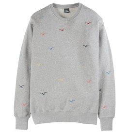Cleptomanicx Cleptomanicx, Crewneck Seagull, gray, L