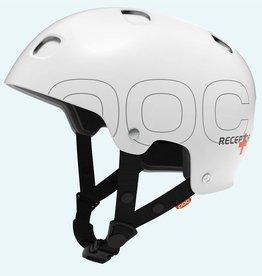 POC POC RECEPTOR + Large white 57/58 SKI Helm