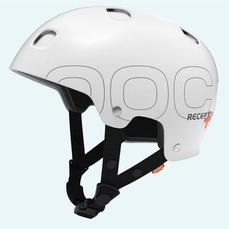 POC RECEPTOR + Large white 57/58 SKI Helm