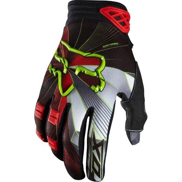 FOX Dirtpaw Radeon Glove red Medium