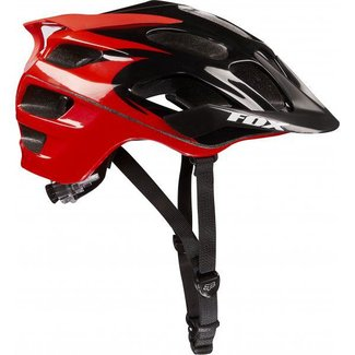 FOX FLux Helmet Black/Red S/M 56-58cm