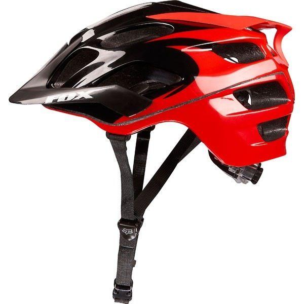 FOX FLux Helmet Black/Red S/M 56-58cm